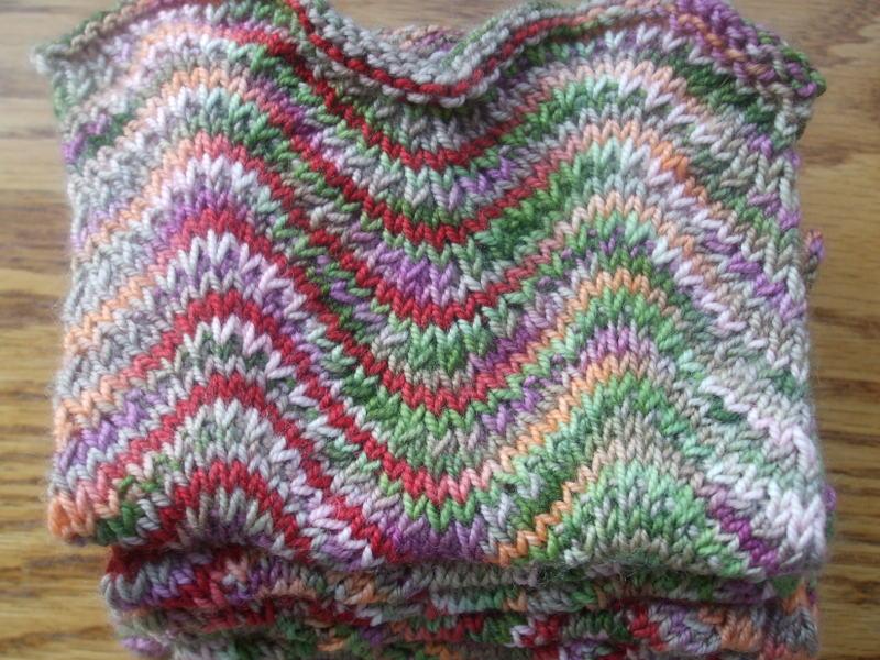 Knitting Bandit Runs Interesting Chevron Scarf Knitting Pattern